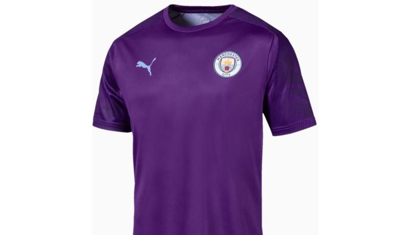 Manchester City PUMA 2019/20 Worn Training T-Shirt - Riyad Mahrez