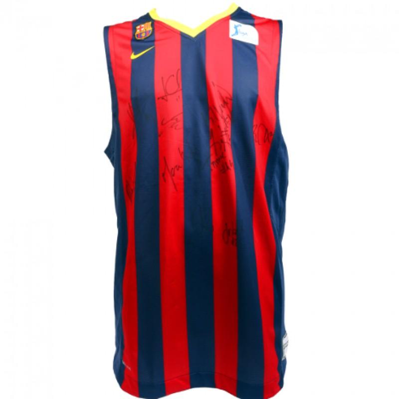 FC Barcelona Team Signed, Official Basketball Shirt
