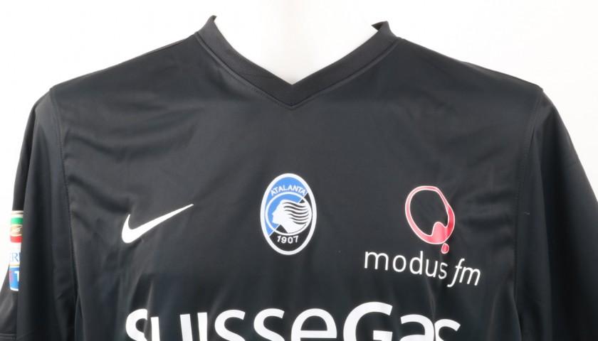 Petagna Atalanta Match Worn Shirt, Serie A 2016/17