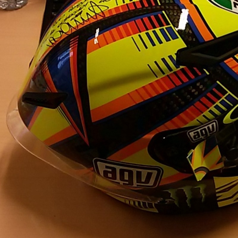 Valetino  Rossi helmet with personalised dedication