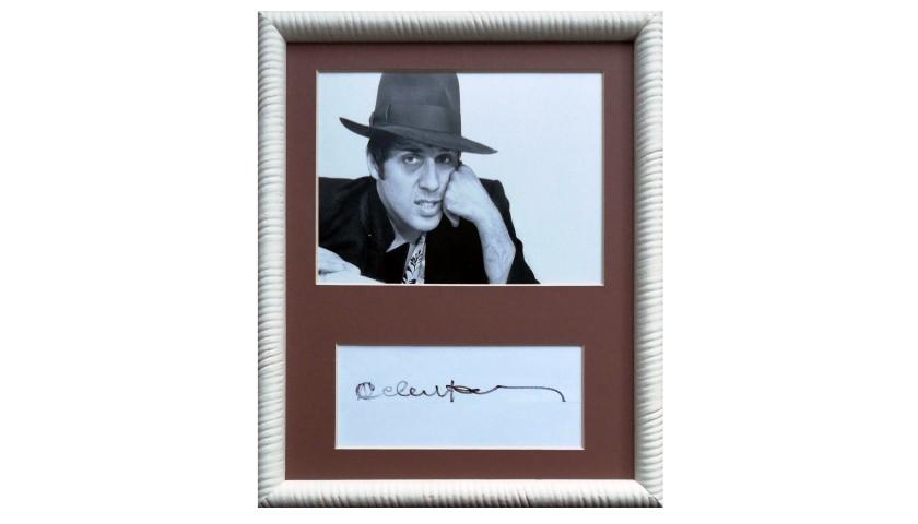 Adriano Celentano Signed Photograph