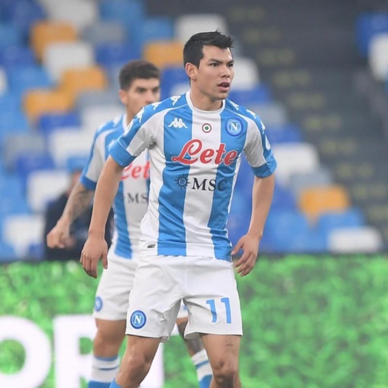 Lozano's Napoli Worn and Signed Match Shirt 2020/21