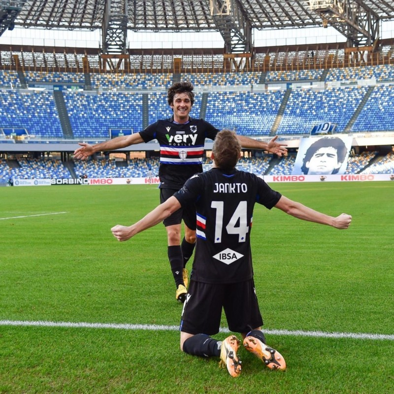 Augello's Worn Shirt, Napoli-Sampdoria 2020, Special Maradona