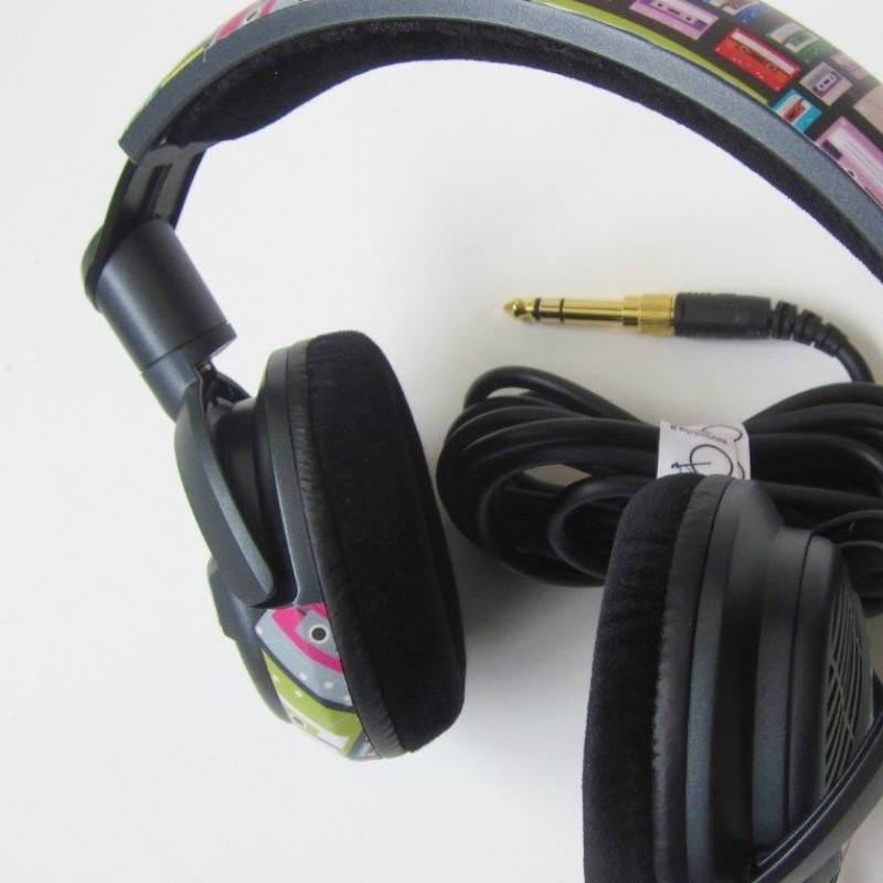 Headphones worn and signed by Linus with custom graphics by FixYourBike