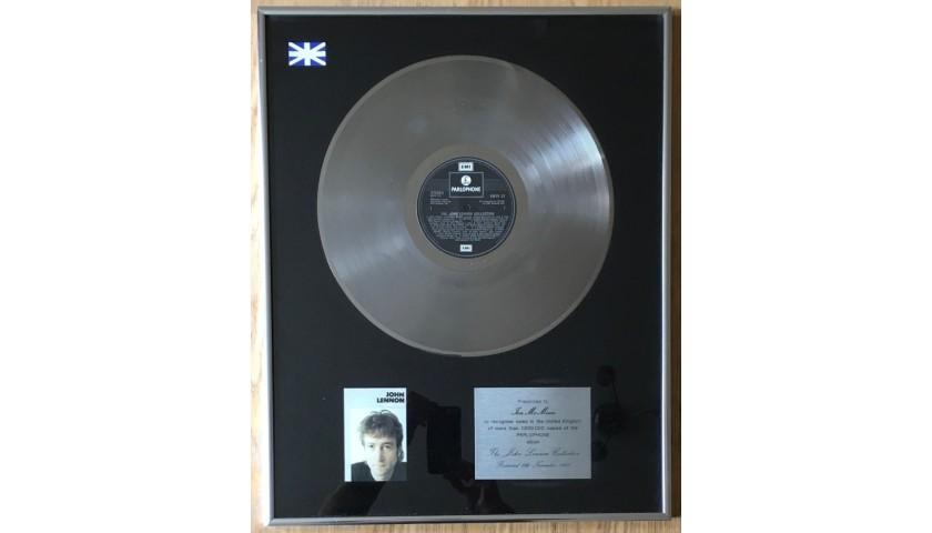 John Lennon BPI Platinum Award