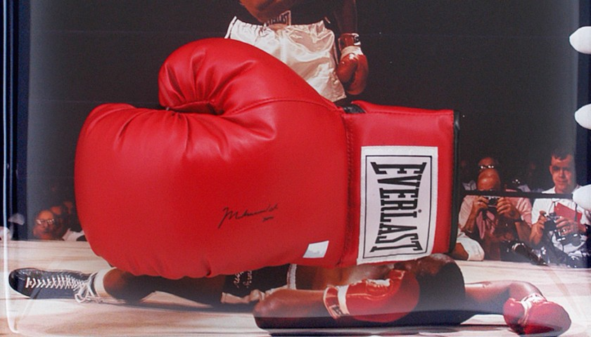 Muhammad Ali Hand Signed Boxing Glove