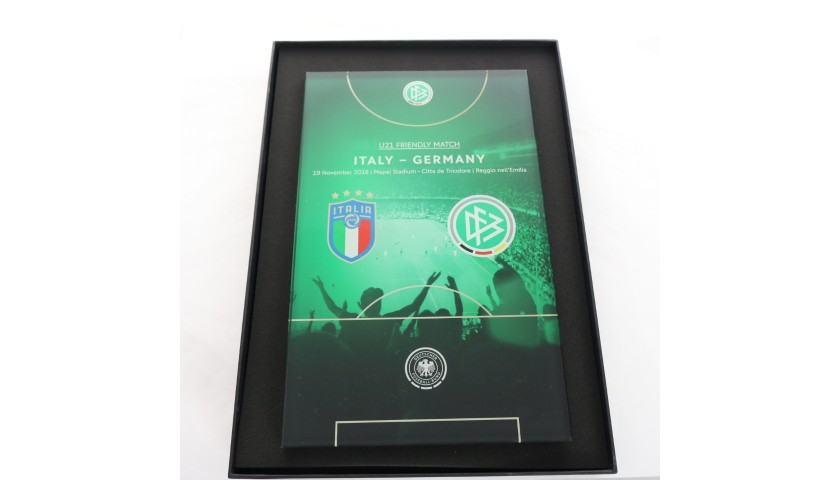 Italy-Germany U21 Celebratory Plaque - 2018