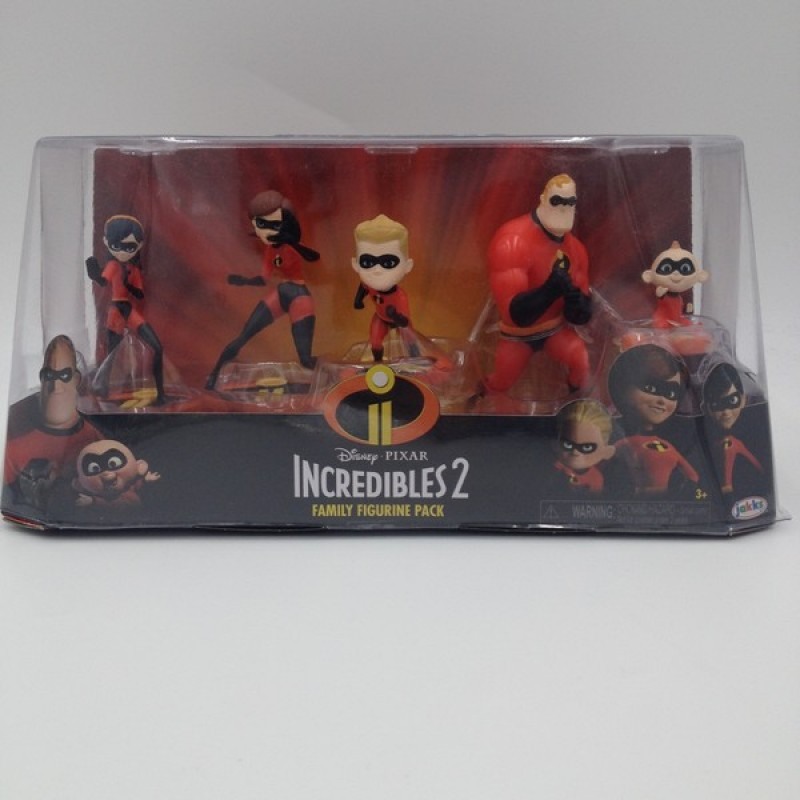 "Disney Pixar ""Incredibles 2"" Family Figure Pack"
