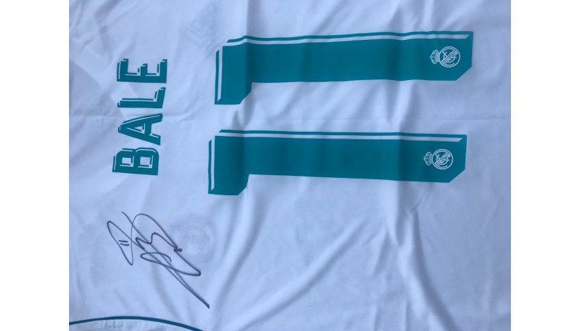 sports shoes 5dc58 e824d Official Real Madrid 2017/18 Shirt signed by Gareth Bale - CharityStars