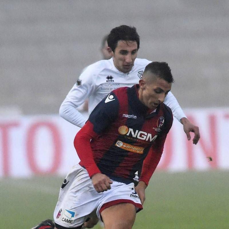 Improta Bologna match worn shirt, Serie B 2014/2015