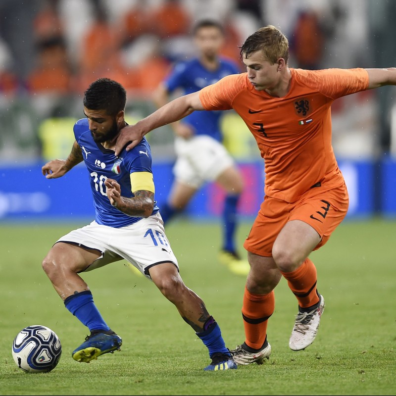 De Ligt's Match-Issue/Worn Shirt, Italy-Holland 2018