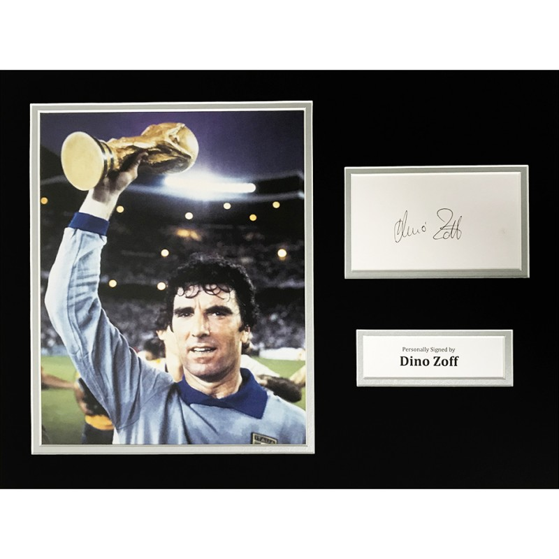 Dino Zoff World Cup Signed Photo Display