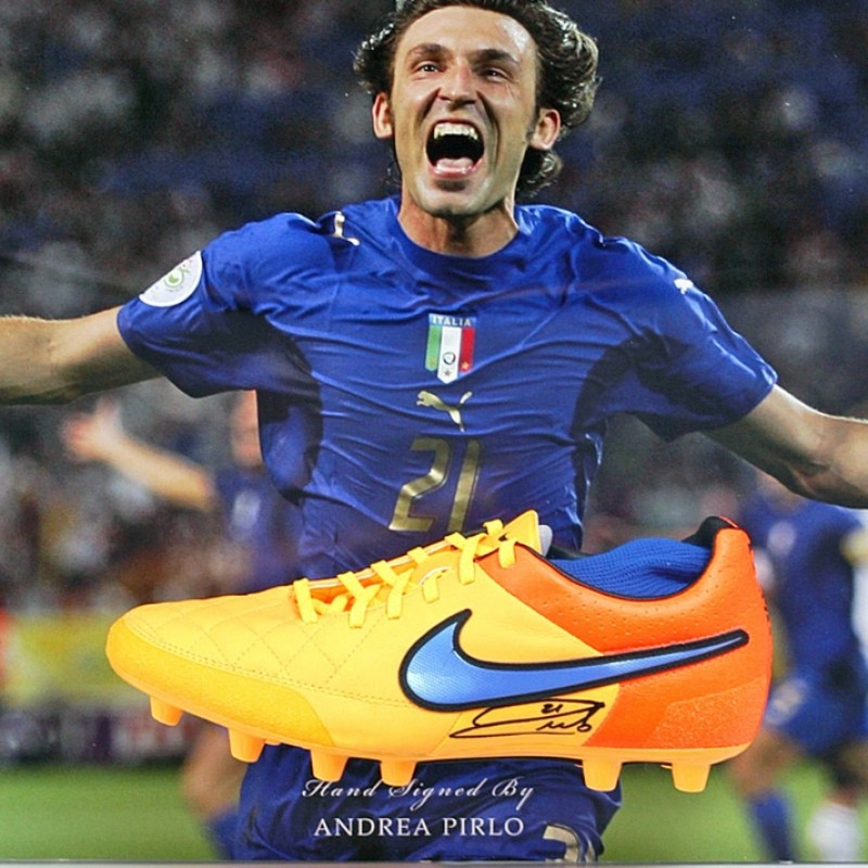 Andrea Pirlo Signed Italy Football Boot