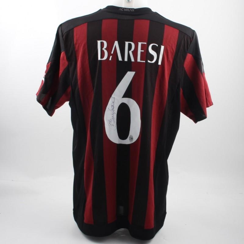 Baresi's Milan Glories Shirt, Worn in Shanghai Friendly match - Signed