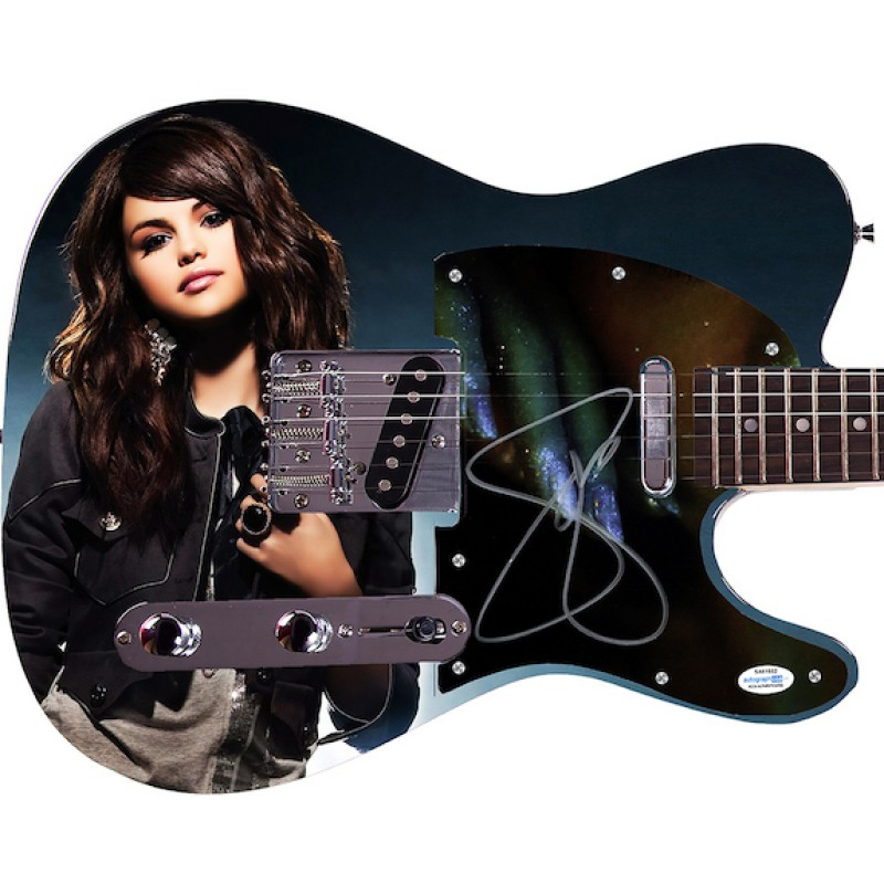 Selena Gomez Signed Guitar