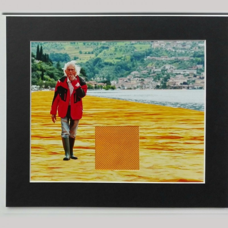"""Christo's """"The Floating Piers"""" - Photograph + Fragment of the Artwork"""