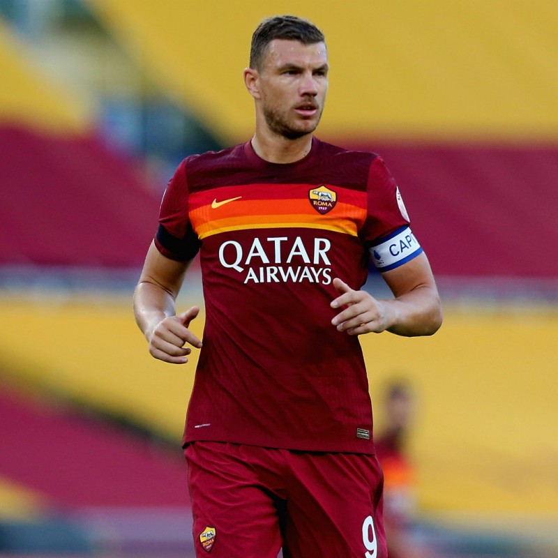 Dzeko's Official Roma Signed Shirt, 2020/21