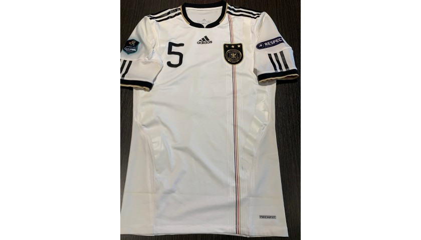 Westermann's Germany Signed Match Shirt, Euro 2012 Qualifiers