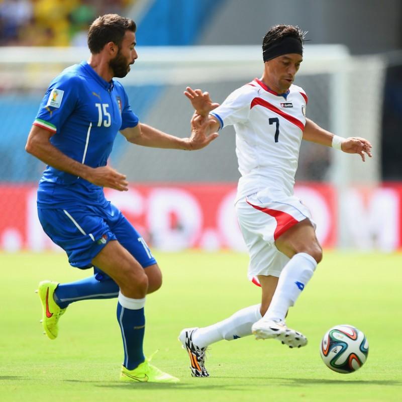 Barzagli's Italy Signed Match Shirt, World Cup 2014