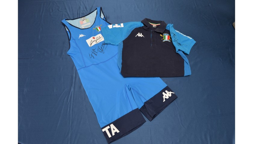 2019 World Championship Body Suit and Official Polo Shirt - Worn and Signed by Giuseppe Vicino