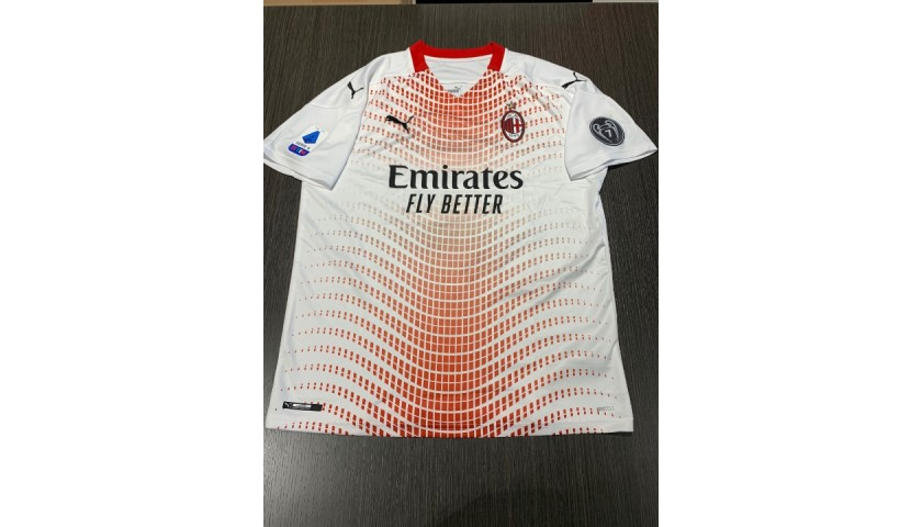 Theo Hernandez's Official Milan Signed Shirt, 2020/21
