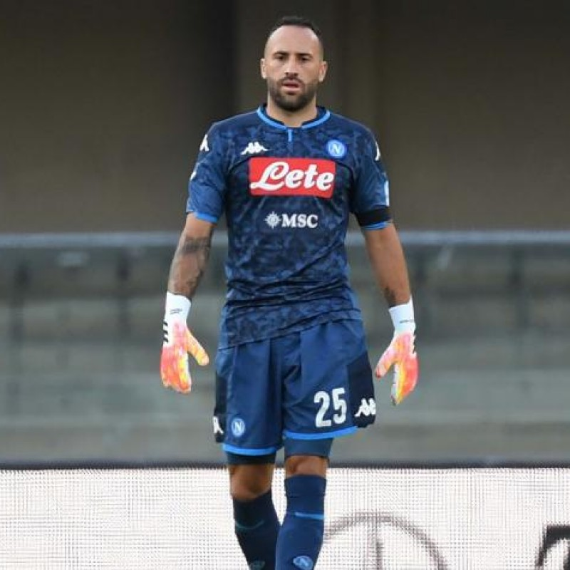 Ospina's Napoli Worn and Signed Shorts, Napoli-Sassuolo 2020