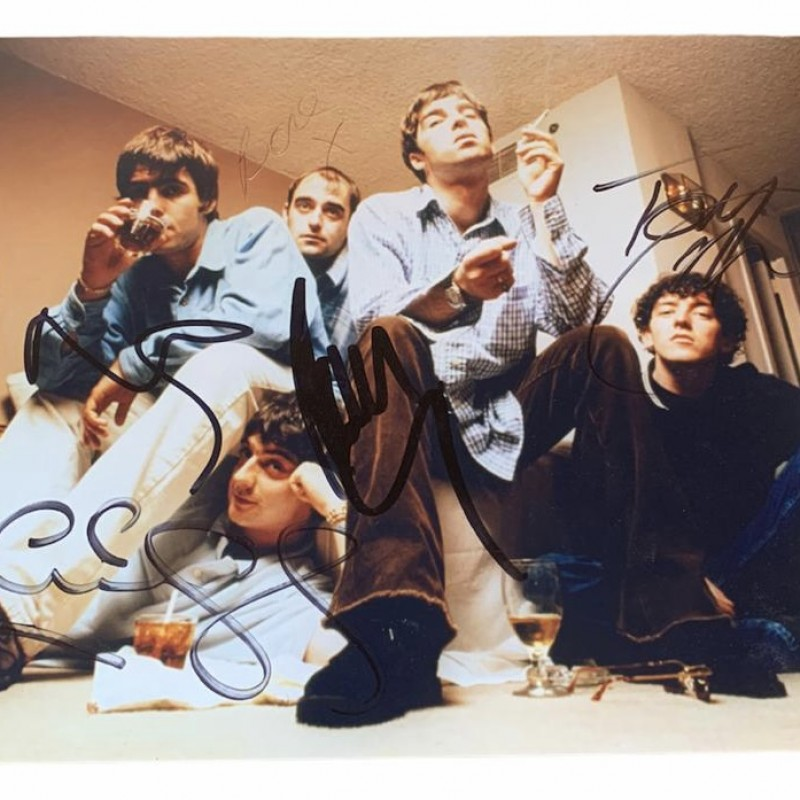 Oasis Signed Vintage Photograph