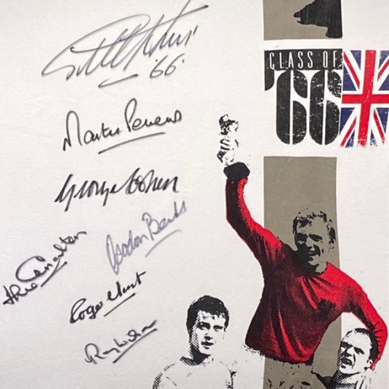 England 1966 World Cup Signed By 7 Retro Shirt