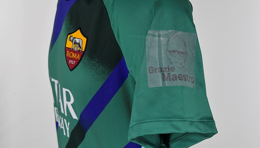 """Pau Lopez's Worn Shirt, Roma-Parma - """"Grazie Maestro"""""""