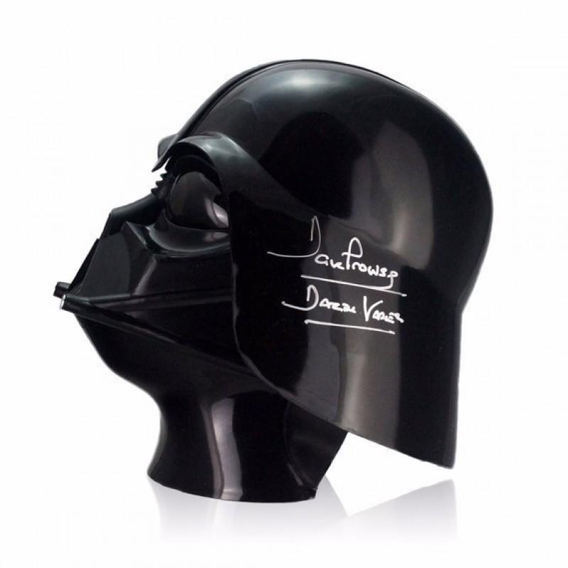Casco di Darth Vader autografato da Dave Prowse