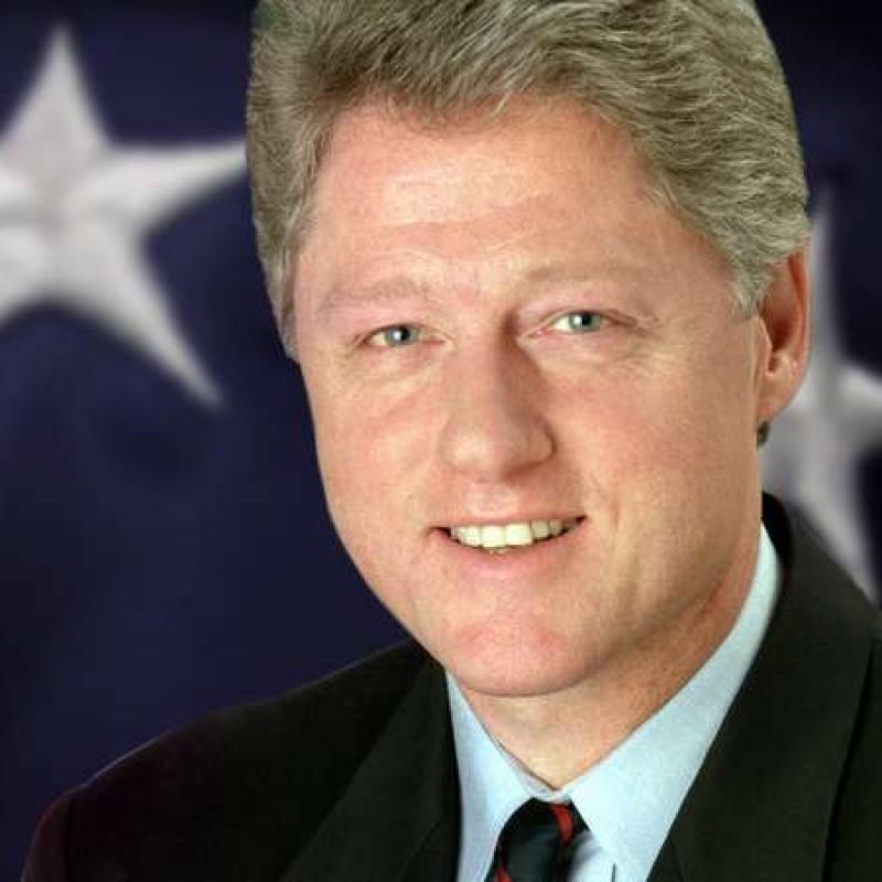 Bill Clinton Hand Signed Baseball