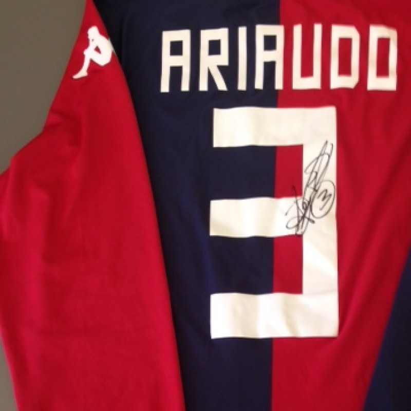 Cagliari match issued shirt, Ariaudo, Serie A 13/14 - signed