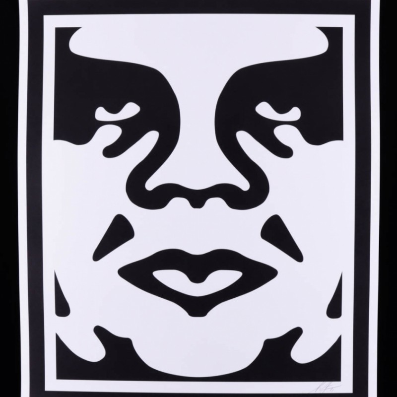 """Shepard Farley Signed """"Obey Andre The Giant"""" Print"""