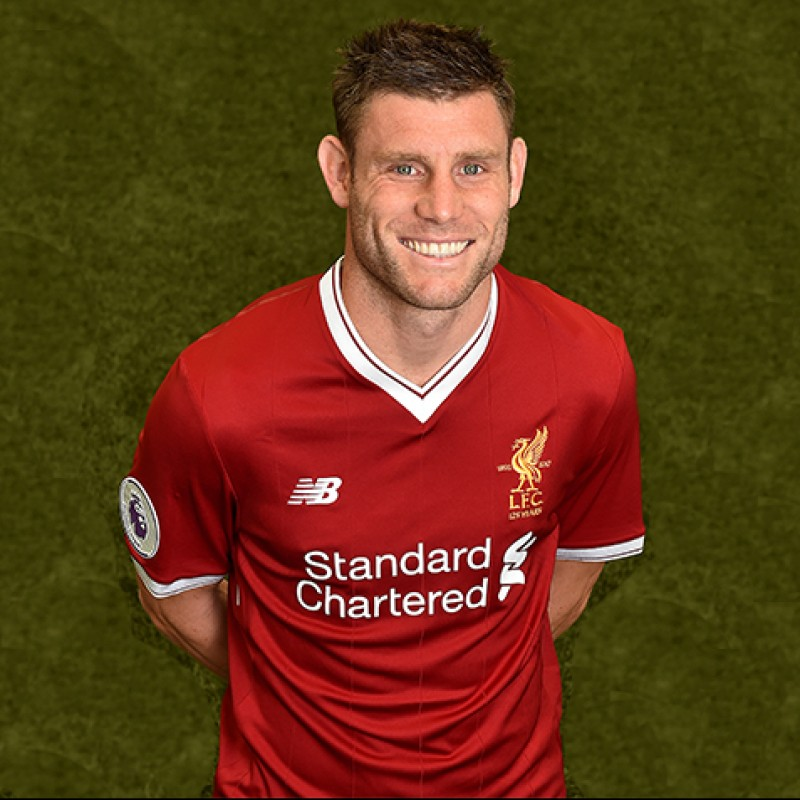 James Milner's Signed Limited Edition 'Seeing is Believing' 17/18 Liverpool FC Shirt