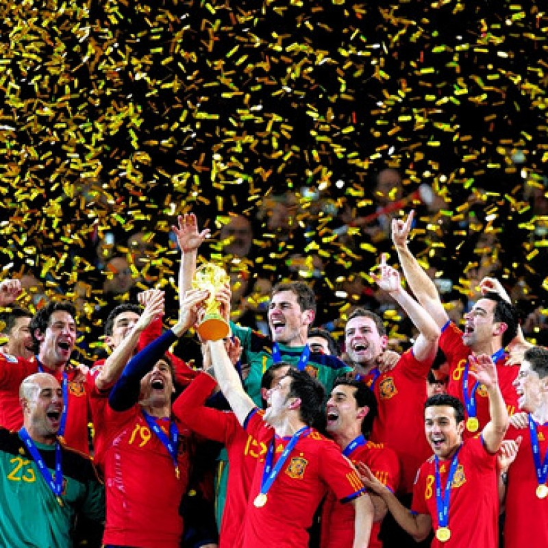 Spain World Cup Champions 2010 Signed Jersey