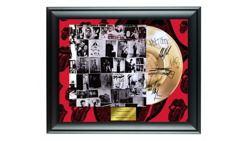 The Rolling Stones Gold Record Display