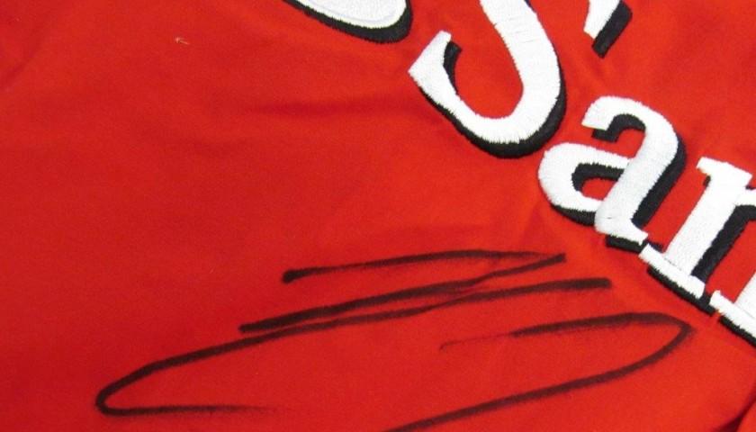 Ferrari shirt signed by Raikkonen