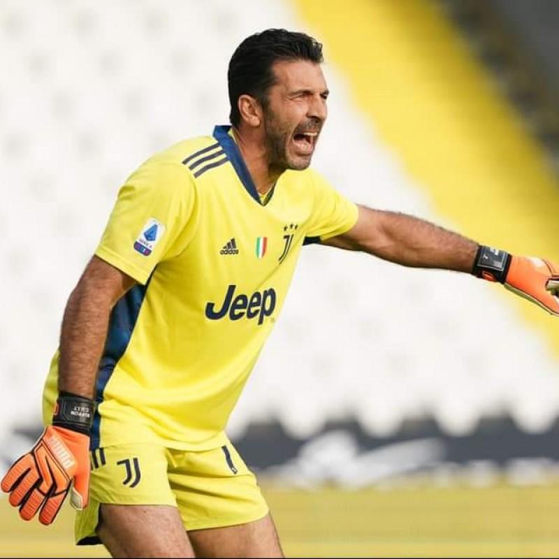 Buffon's Worn Shirt, Spezia-Juventus 2020 with Dedication