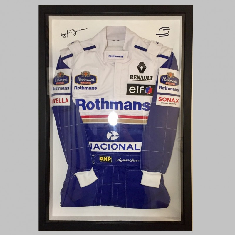 Ayrton Senna 1994 Williams Framed Suit