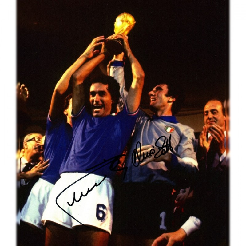 Photograph Signed by Dino Zoff and Claudio Gentile