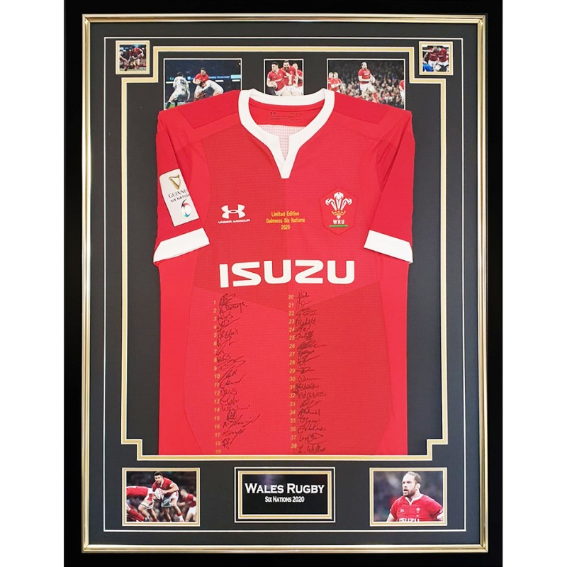 Wales Rugby Shirt - Signed Six Nations Shirt