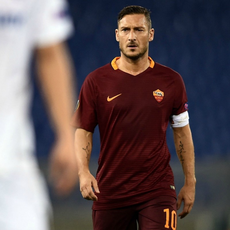 Totti Autographed Official Roma Shirt