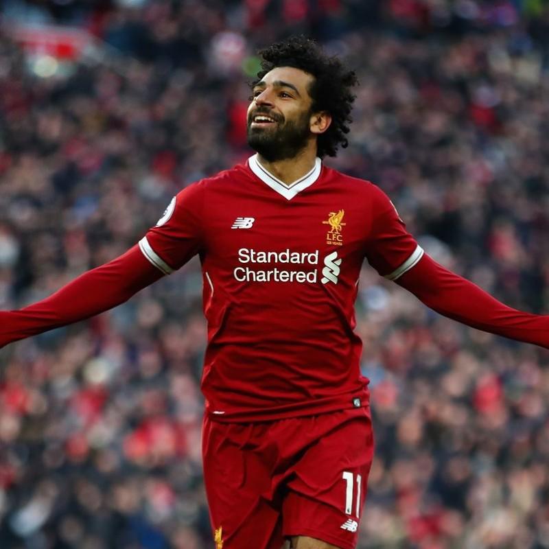 buy popular e4ada 7ce4d Mohamed Salah Signed 125 Home Shirt - CharityStars