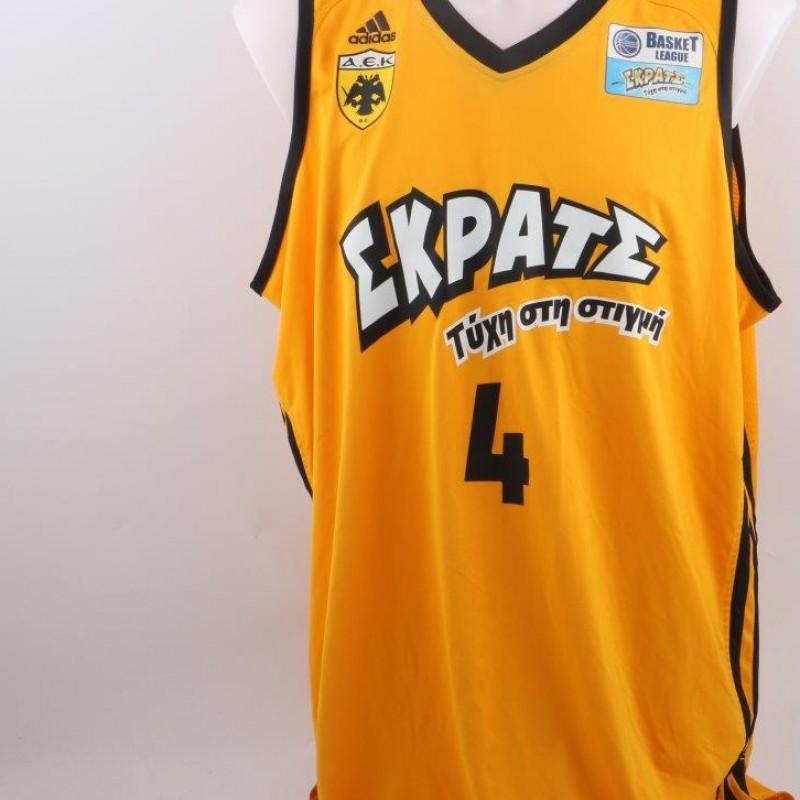 Matchworn Papantoniou shirt, AEK Atene basket
