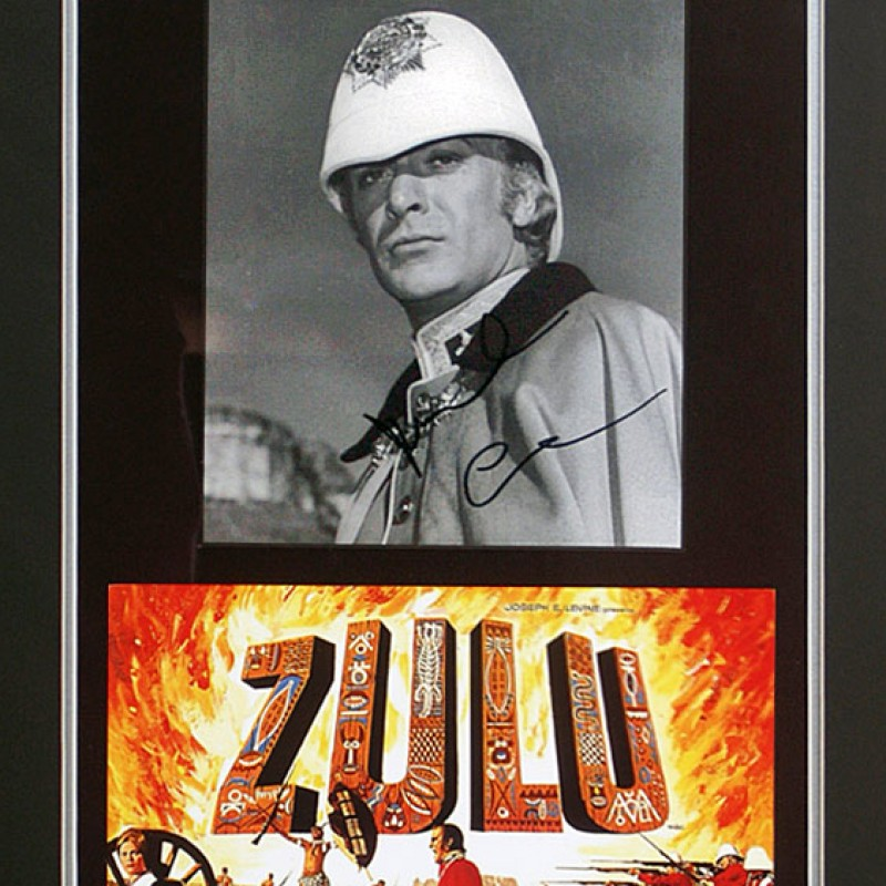 Sir Michael Caine CBE Hand Signed Zulu Movie Presentation
