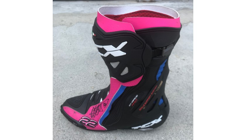 Racing Boot Worn and Signed by Alex Lowes at Portimao