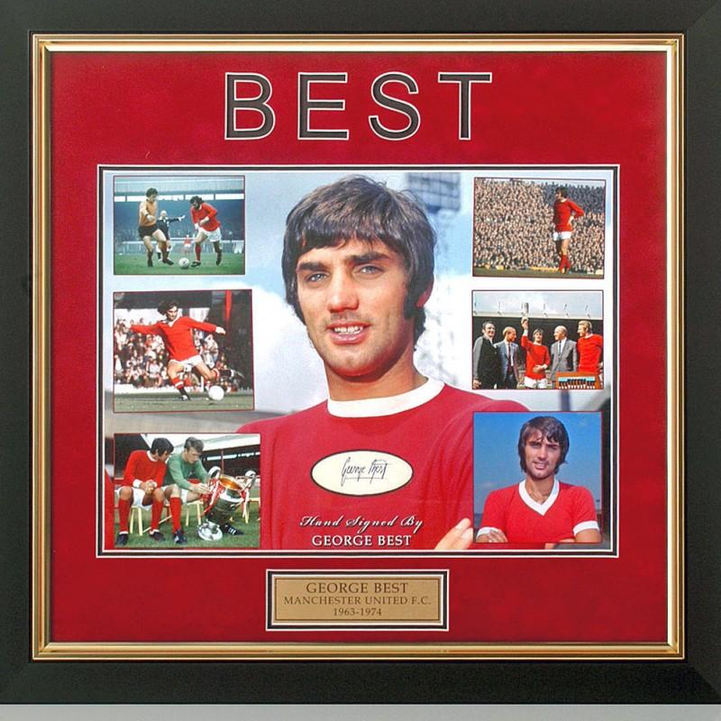 George Best Hand-Signed Manchester United Presentation