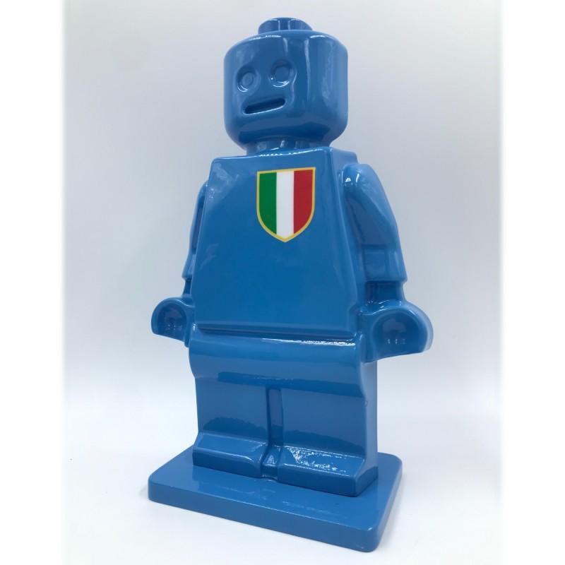 """Alter Ego Oscar Azzurro"" - Sculpture by Alessandro Piano"