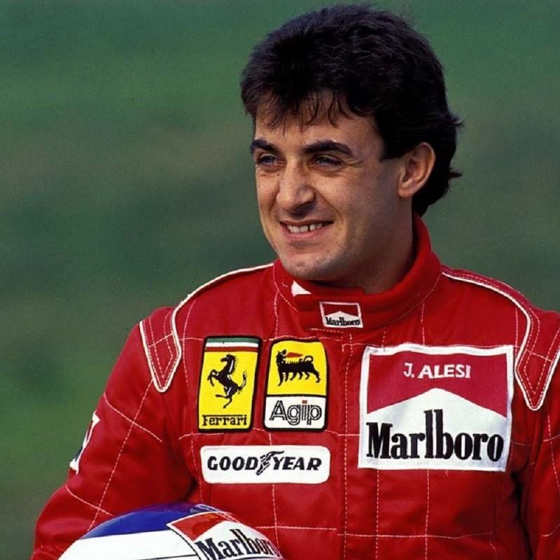 Ferrari Sweatshirt Signed by Jean Alesi