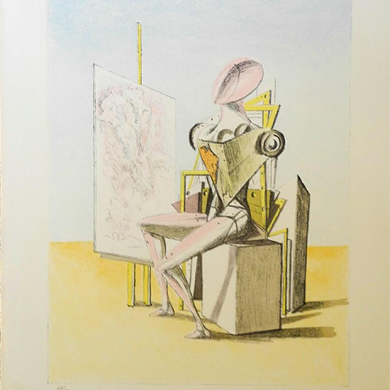 """Giorgio De Chirico """"Il Pittore"""" Lithograph"""